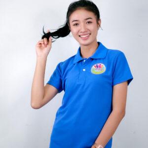 เสื้อโปโล สีฟ้าเข็ม