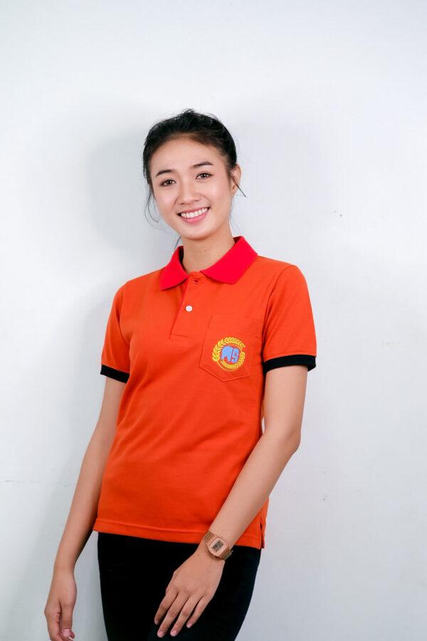 เสื้อโปโล สีส้มเข็ม