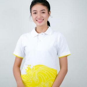 เสื้อโปโล ขาว + เหลือง