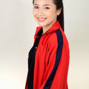 เสื้อเจ็คเก็ต สีแดง แถบดำ