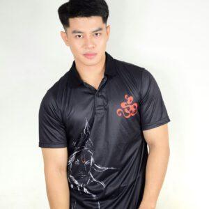 เสื้อโปโลสีดำ + พิมพ์ลาย ARTS