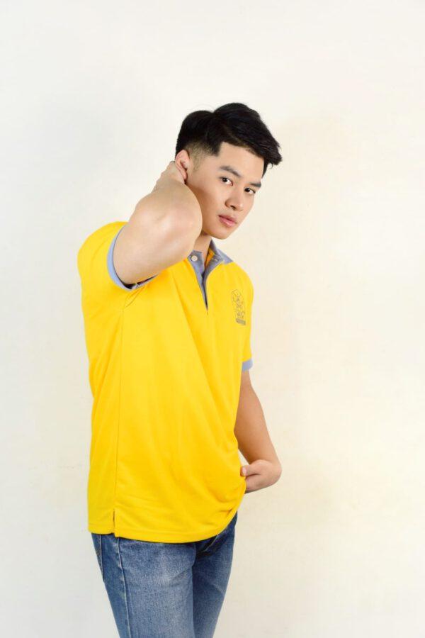 เสื้อโปโล สีเหลือง + ปกเทา
